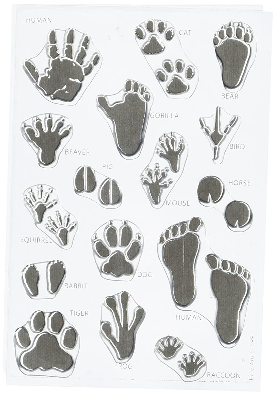 Hero Arts CL399 Clear Stamps, Animal Prints