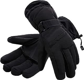 D Diana Dickson Men's Thinsulate Insulation Waterproof Outdoors Winter Snowboarding & Ski Gloves