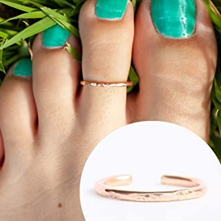 14k Rose Gold Filled Hawaiian Adjustable Open Band Toe Ring One Size Fits All