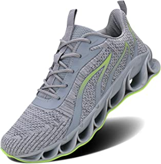Wonesion Tennis Shoes Sneakers for Mens Blade Slip On Walking Running Shoes