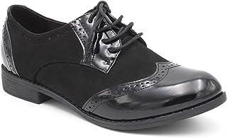 Femme Chaussures Richelieu à plateforme effet daim et lacets