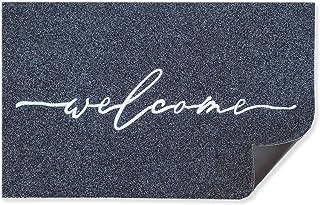 Tapis de bienvenue pour extérieur avec envers en caoutchouc antidérapant durable ultra absorbant et facile à nettoyer pour...