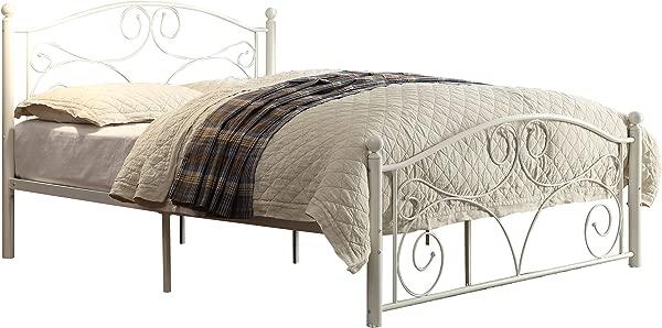 Homelegance Pallina Metal Platform Bed Full White