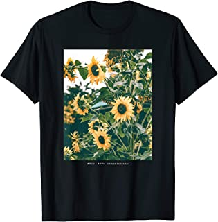 Floral Sunflower Streetwear Aesthetic Fashion Graphic Tee