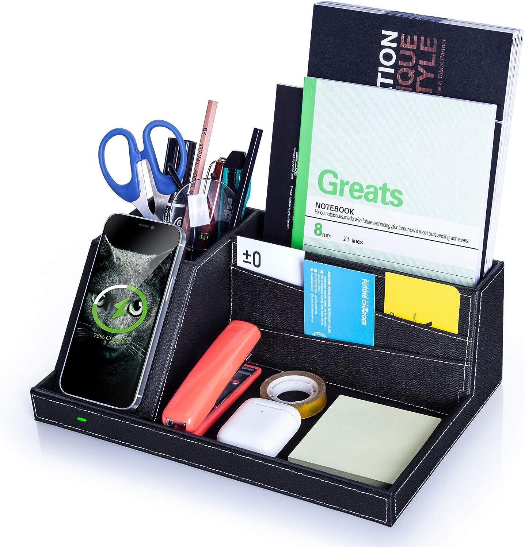Desk Organizer with Charging Station, Multifunctional Desktop Or