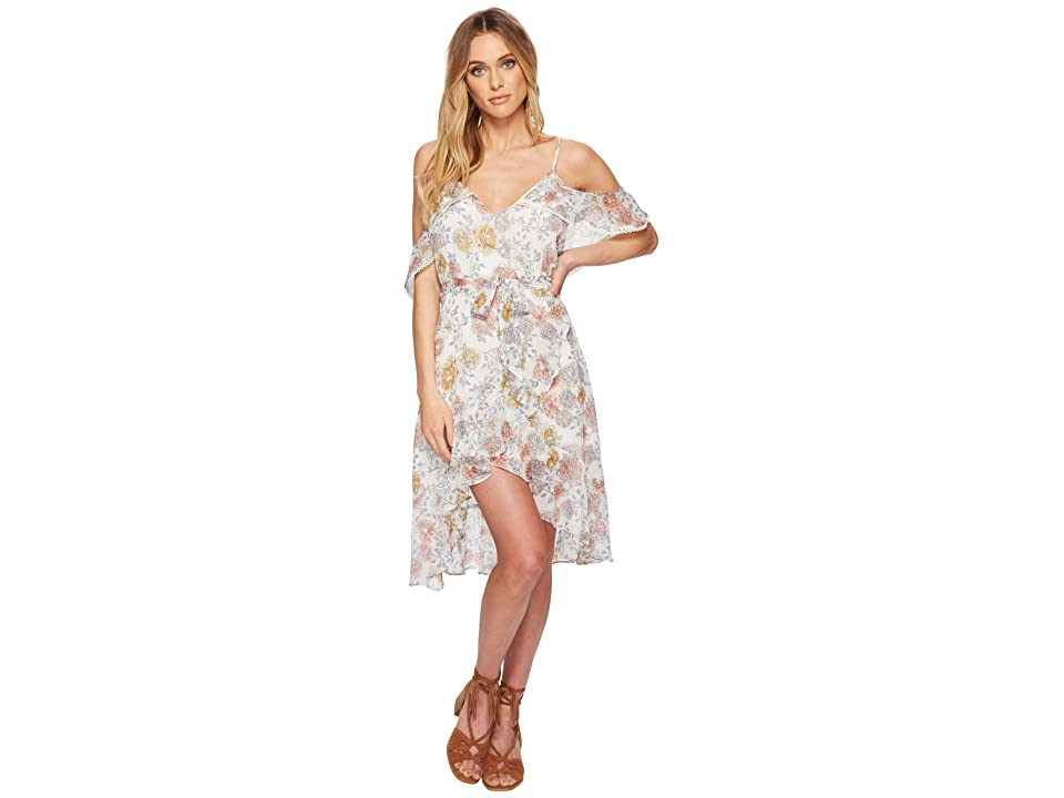J.O.A. Cold Shoulder Dress (Ivory Floral) Women