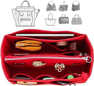 [Fits Ce.line Bags] Felt Tote Organizer (w/Detachable Zipper Bag), Bag in Bag, Wool Purse Insert, Customized Tote Organize, Cosmetic Makeup Diaper Handbag