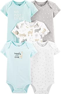 Carter's Baby Boys 5 Pack Bodysuit Set, Alphabet, 3 Months