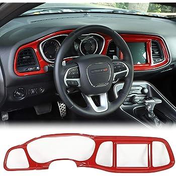 Carbon Fiber Texture JeCar Front Light Trim Cover Headlight Bezels for Dodge Challenger 2015 2016 2017 2018 2019