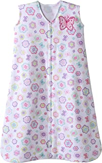 Halo Sleepsack Cotton Wearable Blanket, White Floral Print, Large