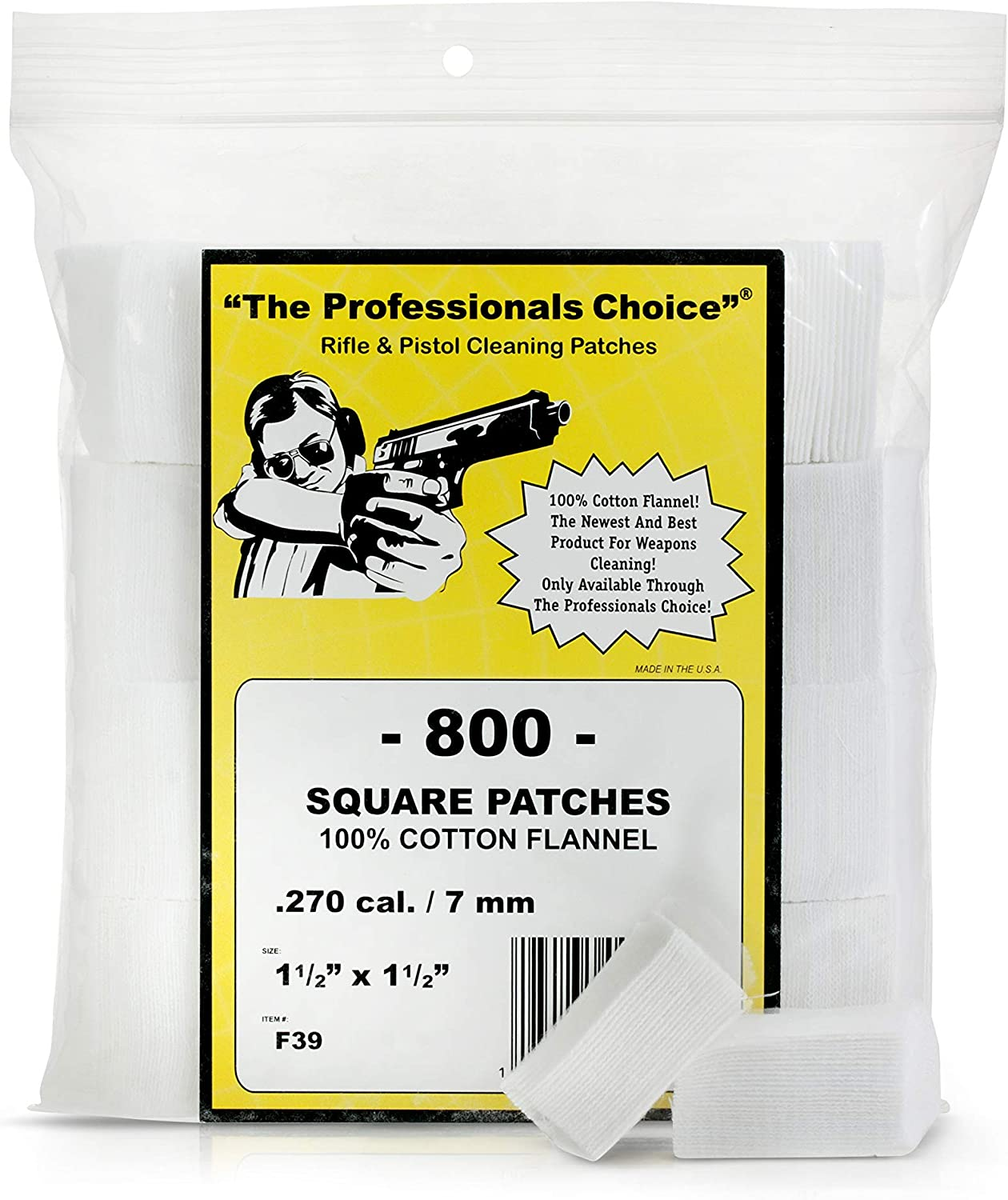 The Professional's Max 44% OFF Choice Pistol Rifle Gun Cotton Ranking TOP2 Patch Cleaning