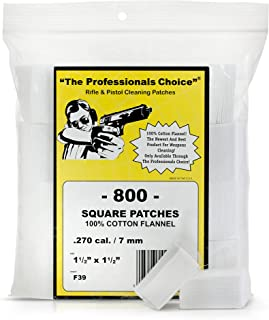 The Professional's Choice Pistol/Rifle Cotton Gun Cleaning Patches | All Calibers | Round & Square | Knit, Twill & Flannel