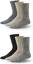 Wool Socks Mens & Women, Warm Hunting Socks for Winter and Hiking (6 Pack)