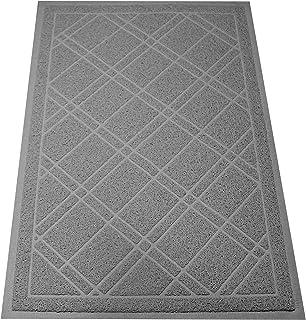 """SlipToGrip Universal Gray Door Mat with DuraLoop - Jumbo 42""""x35"""" Outdoor Indoor Entrance Doormat - Waterproof - Low Profil..."""