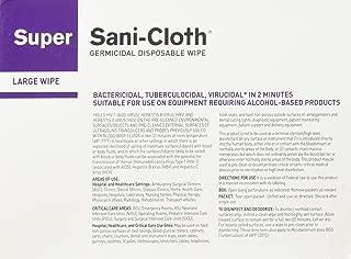 PDI SUPER SANI CLOTH GERMICIDAL DISPOSABLE WIPES Super Sani Cloth Large Wipes, Individual, 50/bx