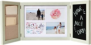 EcoHome Collage 4x6 Picture Frames - Chalkboard and Letter Holder