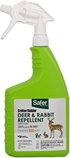 Safer Ready-to-Use Brand 5981 Critter Ridder Deer & Rabbit Repellent RTU – 32 oz