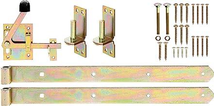 GAH-Alberts 216511 beslagassortiment, voor dubbele of enkele schaarhekpoorten, elektrolytisch geel verzinkt