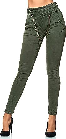 Elara Jeans Donna Boyfriend Abbottonatura dei Bottoni Chunkyrayan
