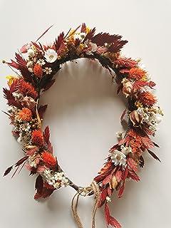 FIORI DI TESTA Coroncina autunnale fiori secchi. Per matrimonio, celebrazione o shooting. Misura adatta per adulta. Strutt...
