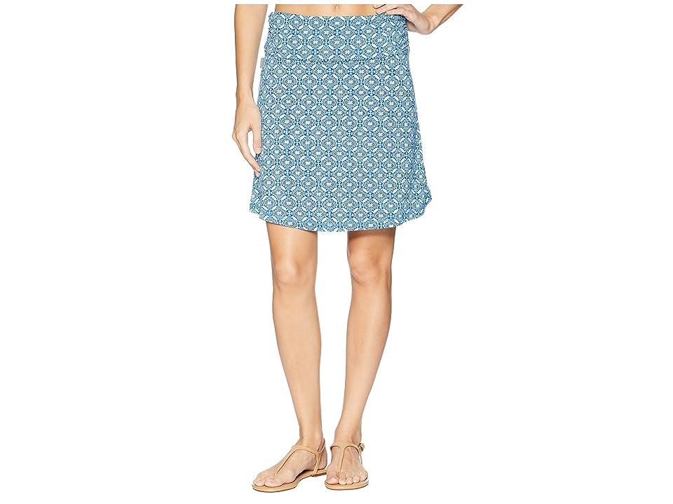 White Sierra Tangier Odor Free Printed Skirt (Aqua) Women
