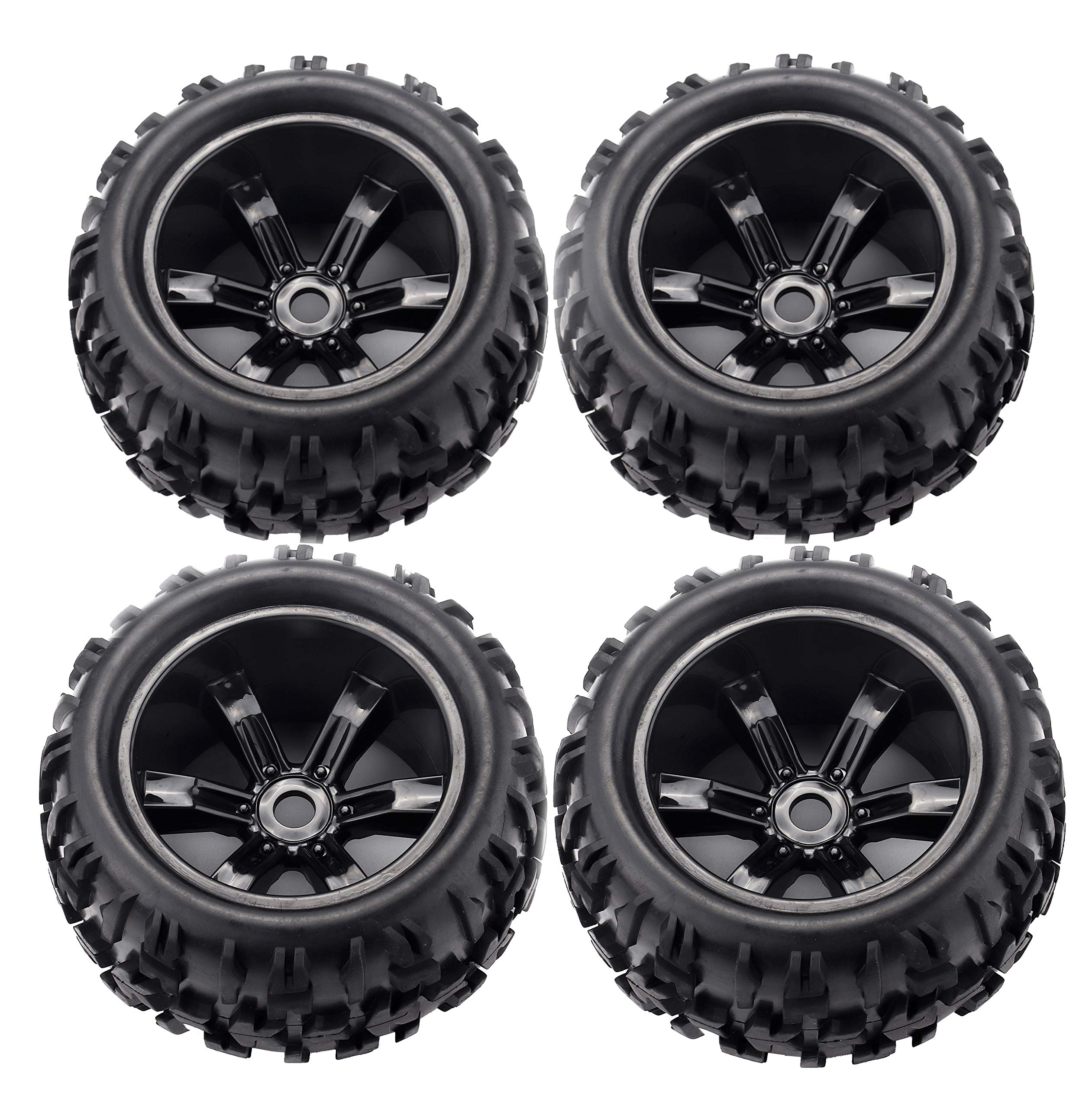 RC Station 17mm Hex RC Wheels and Tires 1/8 Scale RC Monster
