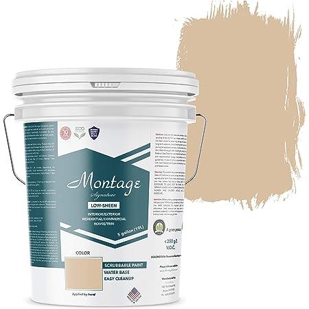 Montage Signature Interior/Exterior Eco-Friendly Paint, Desert Tan, Low Sheen, 5 Gallon