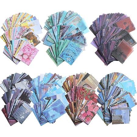1000 Pièces Set d'Autocollant Washi et Fournitures de Papier de Scrapbooking Vintage, Inclure 200 Pièces Autocollant Washi et 800 Papier de Journaling pour Scrapbooking