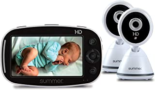 """Summer Baby Pixel Zoom HD Duo 5.0"""" Video Baby Monitor (2 Cameras) – High Definition Baby Monitor with Clearer, Nighttime V..."""