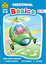 School Zone - Preschool Basics Workbook - 96 Pages, Ages 3 to 5, Alphabet, Numbers, Counting, Beginning Sounds, Classifying, and More (School Zone Basics™ Workbook Series) (Super Deluxe Workbook)
