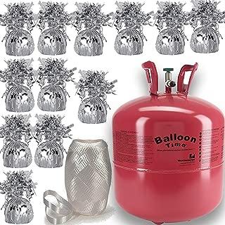 Helium Tank + 12 Balloon Weights, 5.5