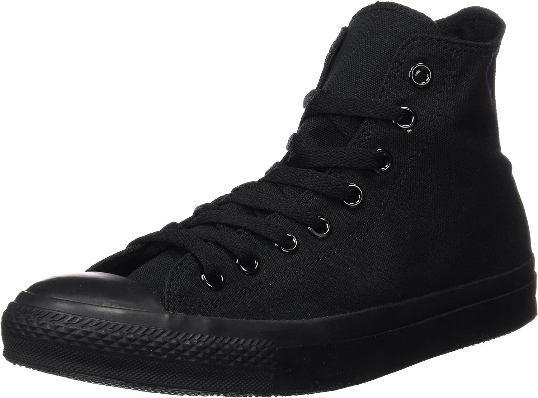 Converse Chuck Taylor All Star Hi Top Black Monochrome Canvas shoes men's 8.5 women's 10.5