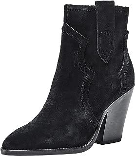 ASH Women's Esquire Suede Cowboy Boots Black