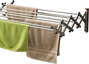 Parasnath Wall Stainless Steel Clothes Drying Stand -7 Pipes 2.5 Feet/ 30 Inch