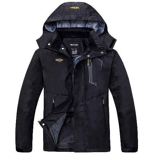 0cb9603c9f41 Wantdo Men s Breathable Hiking Jacket Waterproof Mountain Rain Coat Outdoor  Lightweight Hooded Windbreaker Sportswear