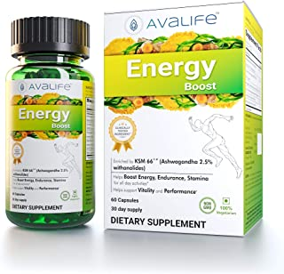 Avalife Energy Boost - Natural Energy Boosting Supplements for Men & Women - Gluten Free, Vegan & Non-GMO - 60 Capsules