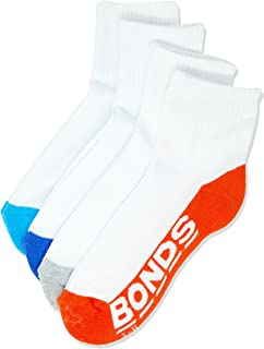 Bonds Kids Logo Quarter Crew Socks (4 Pack)