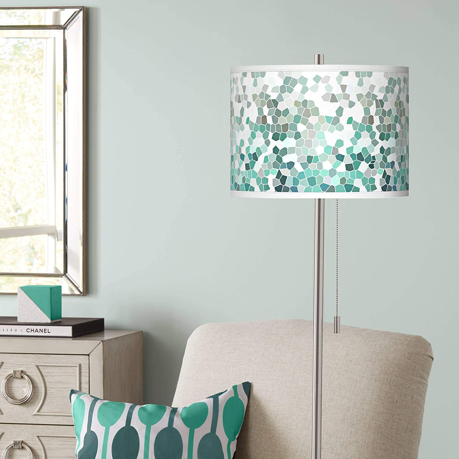 Modern Contemporary Tall Pole Max 71% OFF OFFer Lamp Nickel Standing Floor Brushed