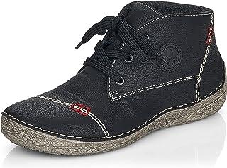 Rieker Women Lace-Up Shoes 52540, Ladies Comfort Shoes