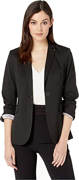Pindot One-Button Jacket