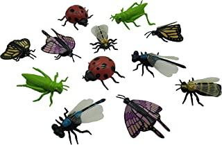 LMC Products Insect Finger Puppets - 12 Finger Puppet Bugs for Kids - Bug Toys