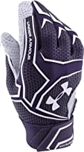 Under Armour Men's Yard ClutchFit Batting Glove Small Purple/White