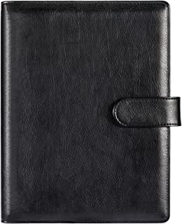A5 Notebook Binder - 9.15'' x 14.65'' (Open), 6 Ring PU Leather Binder for A5 Filler Paper (Paper Size: 8.4'' x 5.5''), Lo...