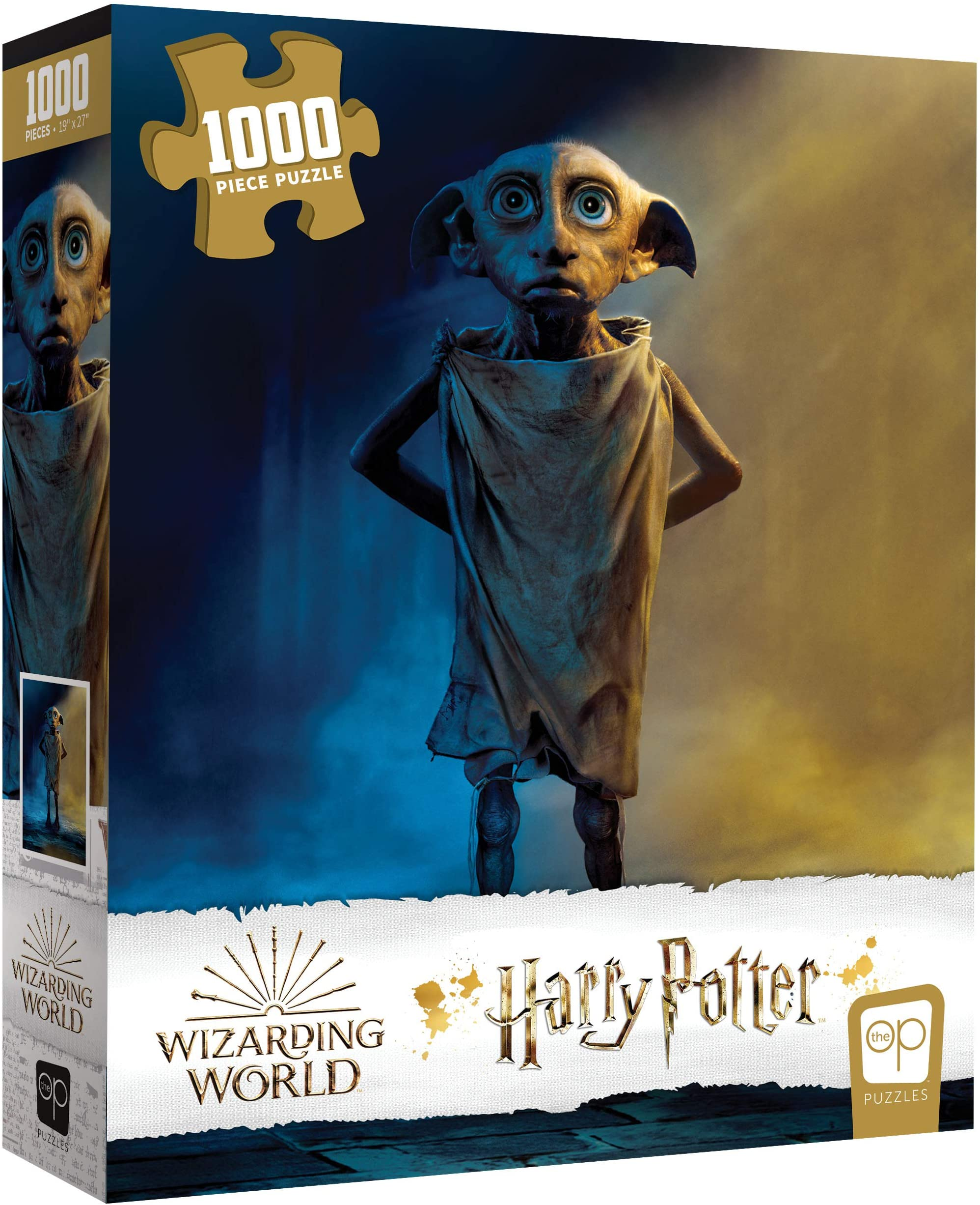 USAOPOLY Harry Potter Dobby 1000 Piece Jigsaw Puzzle | Officially Licensed Harry Potter Puzzle | Collectible Puzzle Featuring Dobby The House Elf from Harry Potter Films