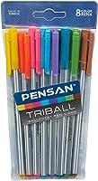 Pensan Triball Tükenmez Kalem Renkli 8'li Vakumlu - PE01003TKRK08