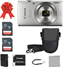 Crystal Canon Elph 180 Point and Shoot Camera Bundle...