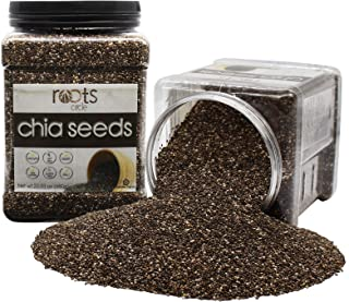 Organic Kosher Bulk Chia Seeds   2 x 23 = 46 OZ   Vegan, Raw, Non-GMO, Superfood   Excellent Source of Omega 3 and Protein   Gluten-Free, Nut-Free   For Salads, Smoothies, Acai Bowls by Roots Circle