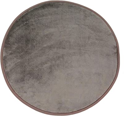 Tapis Rond Extra Doux Antidérapant, 70cm x 70cm, Taupe