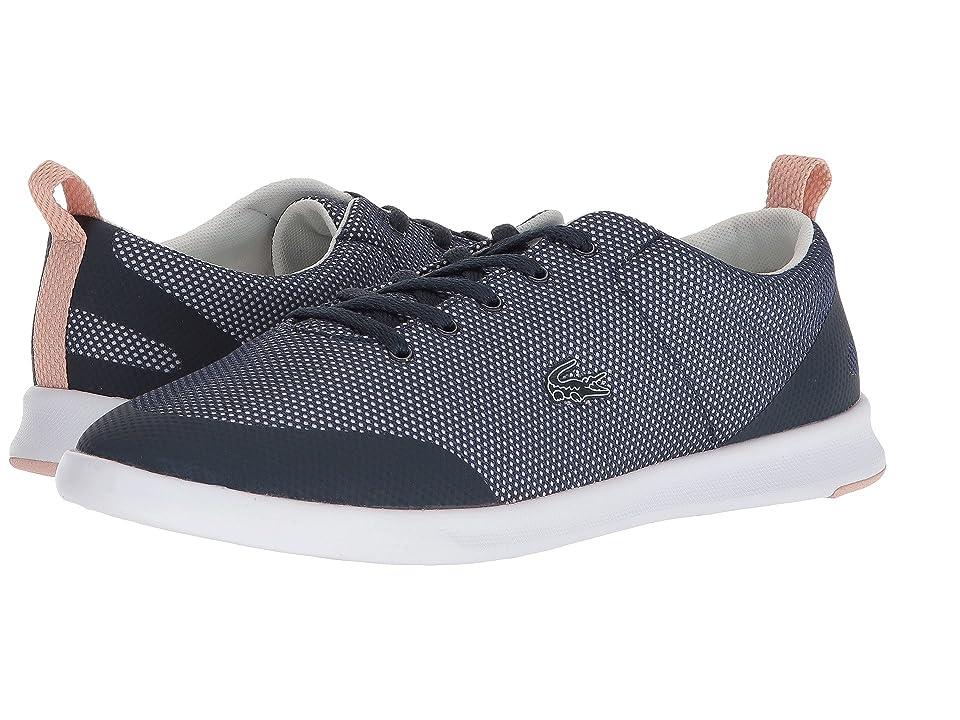 3d62a389337 Lacoste Avenir 218 1 (Navy Off-White Natural) Women s Shoes