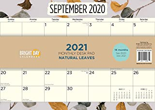 Bright Day Calendars New 2021 Desk Pad Office Calendar by Bright Day, 16 Month 15.5 x 11 Inch, Cute Colorful Planner… (N...